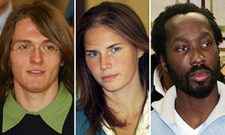 Raffaele Sollecito, Amanda Knox and Rudy Guede