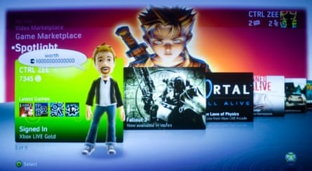 New Xbox interface screen