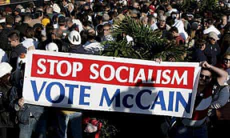 John McCain rally, socialism, sign