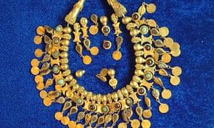 Bactrian jewellery on display in Kabul
