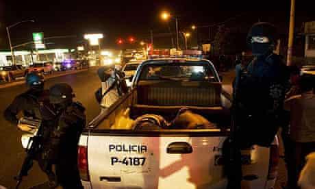 Suspects in police truck in Tijuana