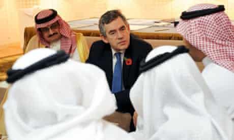 Gordon Brown in Saudi Arabia