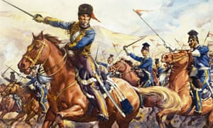 A detail from the Charge of the Light Brigade by James Edwin McConnell
