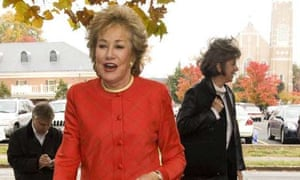 Elizabeth Dole goes to the polls in North Carolina. Photograph: Chris Keane/Reuters
