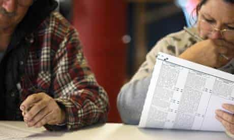 US election day: Rural voters in Colorado