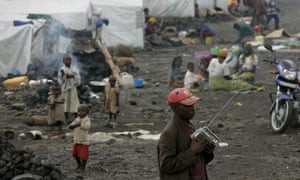 Refugee camp in Goma, Congo