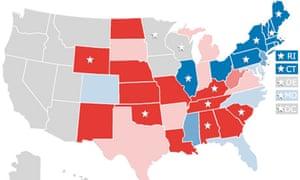 Barack Obama And John McCain How The Night Unfolded US News - Us election map 2008