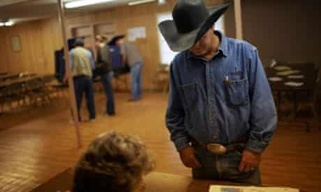 Voting for the US elections in Texas