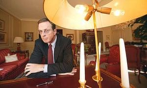 Michael Crichton, author of the bestseller Jurassic Park, in Paris, 2003.