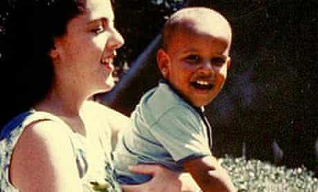 Barack Obama with his mother, Ann Dunham, in the 1960s