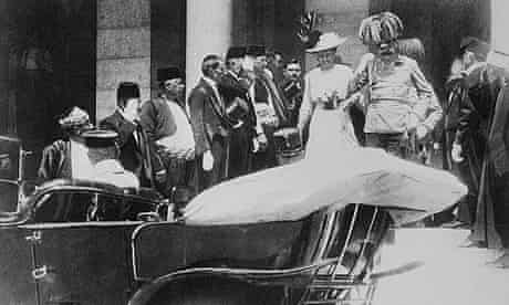 Austrian Crown Prince Franz Ferdinand just before his assassination in 1914