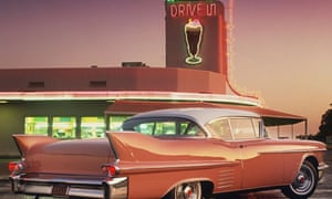 A 1958 Cadillac coupé