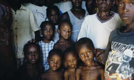 Haiti residents shelter from a hurricane