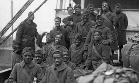 The arrival of the 369th Black infantry regiment in New York after the first world war