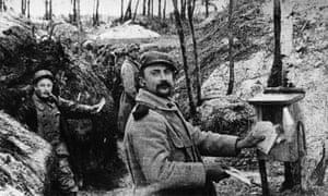 A first world war mailbox