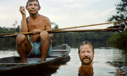 Dan Everett with a member of the Piraha tribe