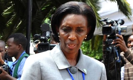 Rose Kabuye, in Nairobi for an emergency summit on Congo