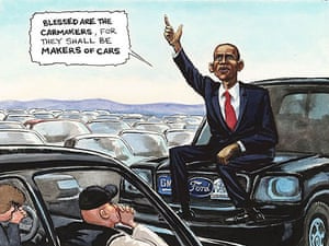 12.11.08: Steve Bell on Obama's promise to the US car makers