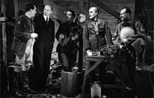The cast of the 1937 BBC TV production of Journey's End meet the playwright R.C Sherriff after the production