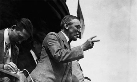 Woodrow Wilson making a speech