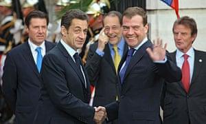 Nicolas Sarkozy and Dmitry Medvedev