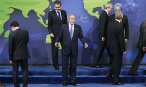 George Bush at the G20 summit
