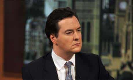 George Osborne being interviewed by Andre Marr (not pictured)