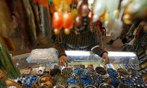 Market traders in Tehran, Iran