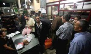 Gaza food queues