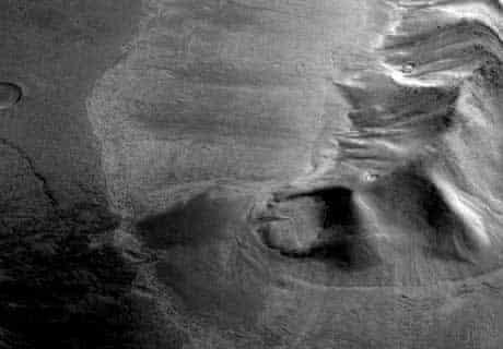 Buried glacier on Mars
