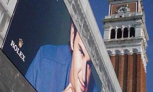 Advert in St Mark's Square, Venice