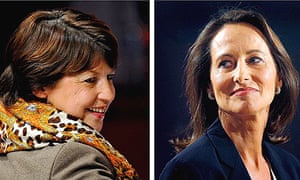 Martine Aubry (l) and Segolene Royal, who are vying for the leadership of France's Socialist party.