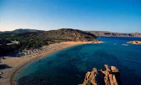 The rugged Toplou peninsula in Crete