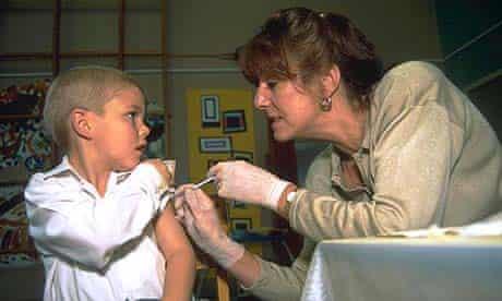 Child receives MMR vaccine