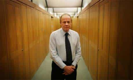 Damian Green stands in his Parliamentary office on November 28, 2008