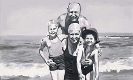 Family at the sea by Gerhard Richter