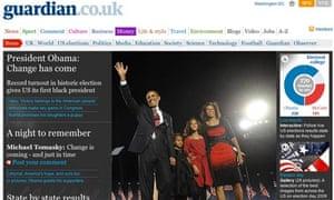 guardian.co.uk, 7am GMT, November 5 2008