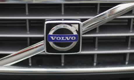 A Volvo logo on a car