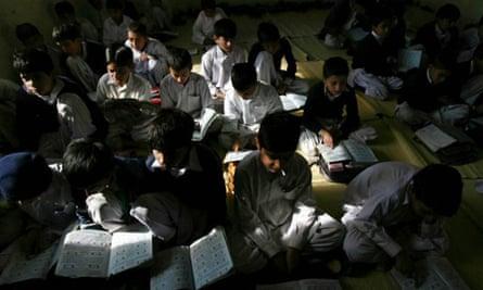 Pupils at the Muridke school in Pakistan