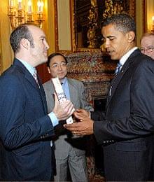 Sean Wilsey meeting Barack Obama