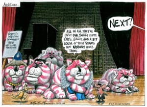 9.12.2008: Martin Rowson on UK's search for a new Bagpuss