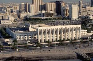 Gallery Jørn Utzon 1918-2008: Aerial View of National Assembly Building in Kuwait designed by Jørn Utzon