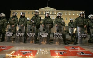 Gallery Greek riots: A detachment of riot police