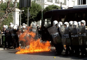 Gallery Greek Riots Continue: Greek Riots Continue As Unions Hold A General Strike