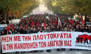 Gallery Greek Riots Continue: Protesters march as part of a general strike demonstration