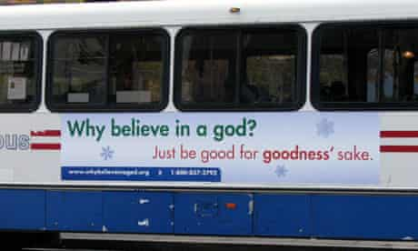 Atheist ad campaign on Metro buses in Washington DC (Photograph: American Humanist Association)