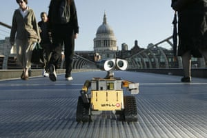 Gallery Children's toys: A WALL-E toy on the Millennium Bridge