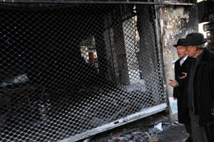 Gallery Greece riots: A burnt-out shop in Thessaloniki