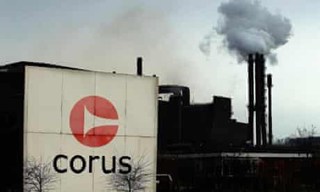 Corus steelworks in Scunthorpe