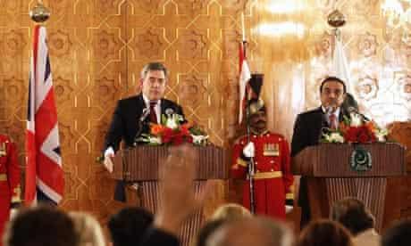 Gordon Brown and Asif Ali Zardari